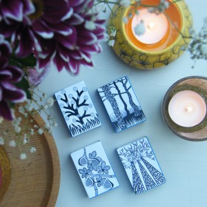 Holly V Maslen Design & Illustration monochrome match boxes pine fig bobble bark nature abstract design-001